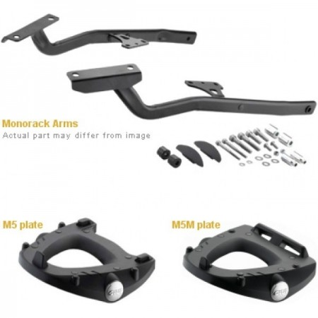 KIT MONORACK 3110FZ + BASE GIVI GSX S1000F