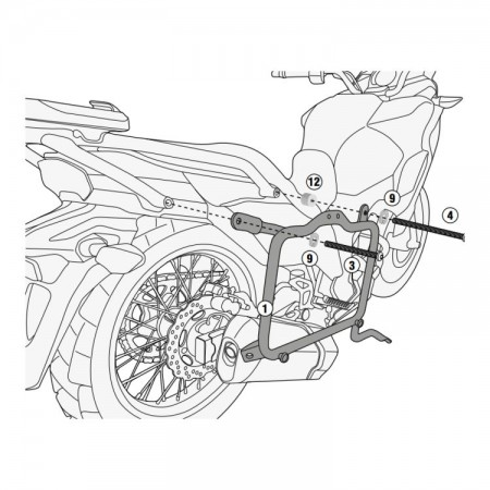 SUPORTE LATERAL PL4121 GIVI VERSYS X300