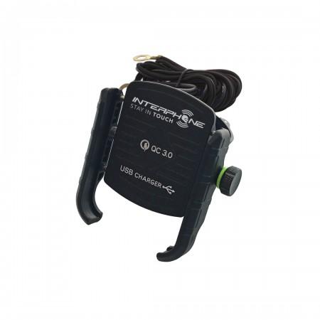 SUPORTE CELULAR UNIVERSAL MOTOCRAB USB